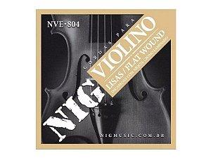 Encordoamento Violino Nig Nve804 Níquel Laminado