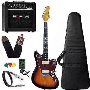 Kit Guitarra  Tagima Tw61 Woodstock Sunburst Amplificador Borne