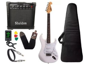 Kit Guitarra Tagima Memphis Mg32 Branco amplificador Sheldon