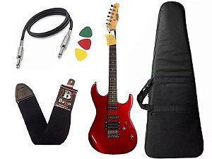 Guitarra Tagima Memphis MG 260 Vermelho Capa Correia