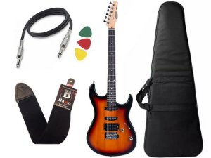 Guitarra Tagima Memphis MG 260 Sunburst Capa Correia