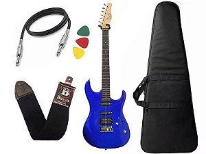 Guitarra Tagima Menphis MG 260 Azul Capa Correia