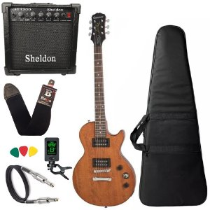 Guitarra Les Paul Epiphone Special VE Walnut amplificador - Regulado