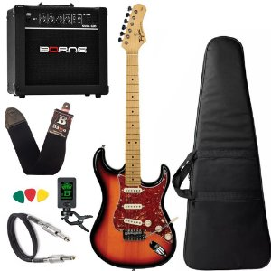kit Guitarra Tagima TG530 Sunburst Woodstock Cubo Borne