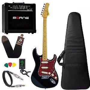 kit Guitarra Tagima TG530 Woodstock Preto Cubo Borne G30