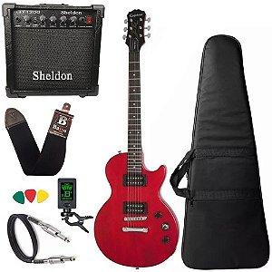 Guitarra Les Paul Epiphone Special VE Vermelho Amplificador - Regulado