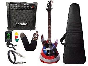 Kit Guitarra Marvel capitão america phx Gmc1 cubo sheldon