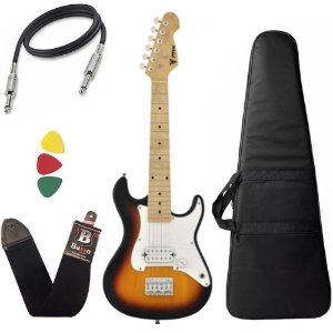 Kit Guitarra Criança Infantil Eletrica Phx Isth 1/2 Sunburst Bag