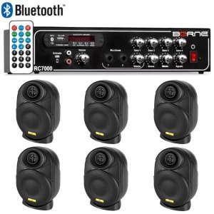 "Kit Som Ambiente Borne Rc7000 Usb Fm + 6 Elips LL audio 4"""
