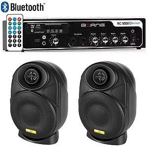 "Kit Som Ambiente Borne Rc5000 Usb Fm + 2 Elips LL audio 4"""