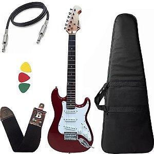 Guitarra Phx Infantil juvenil Jr Ist1 Vermelho 3/4 Capa bag