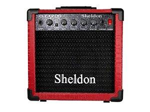 Amplificador cubo para guitarra 15w  Sheldon Gt1200 Vermelho
