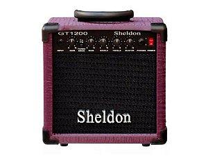 Amplificador Caixa Cubo para Guitarra Sheldon Gt1200 15w Roxo