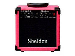 Amplificador Caixa Cubo para Guitarra Sheldon Gt1200 15w Rosa