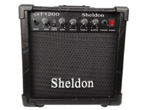 Amplificador Caixa Cubo para Guitarra Sheldon Gt1200 15w Preto