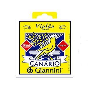 Encordoamento Jogo Corda Canario Giannini Violão Nylon Genwb
