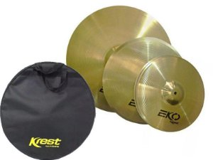 Kit Set Pratos Krest Eko 13 16 18 Brass com Bag ECOSET2