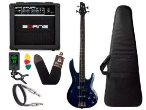 Kit Baixo Ativo Phx Bs4 S azul caixa amplificador Borne