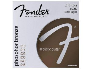 Encordoamento fender Violão cordas Aço 010 60XL phosphor bronze