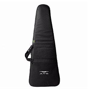 Capa Bag para Guitarra Avs luxo Acolchoado Alça Mochila