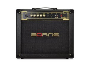 Amplificador Borne Vorax 1050 50w cor Preto + fonte 5 pedais