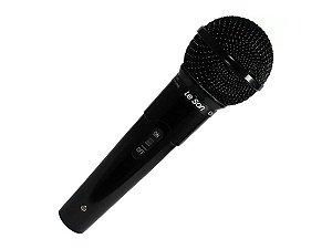 Microfone Leson Mc200 Dinamico Cardióide Preto Brilhante