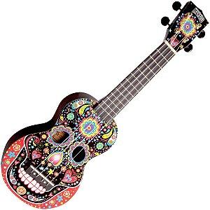 ukulele caveira mexicana soprano mahalo los piratas MA1SKBK