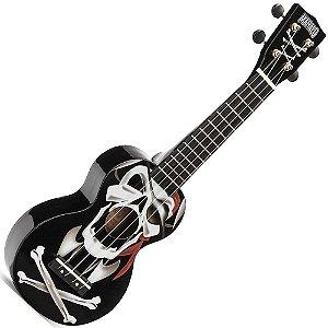 ukulele caveira pirata soprano mahalo los piratas MA1PLBK