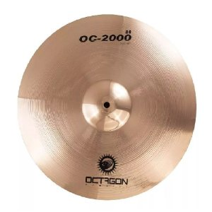 Prato Medium Crash 16 Octagon Oc2000 Oc16mc Ataque Bronze B8