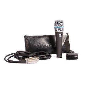 Microfone Com Fio Dinâmico Supercardioide Lexsen Lm-b57a