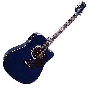 Violão Di Giorgio Folk Genesis Blue Azul Eletroacustico