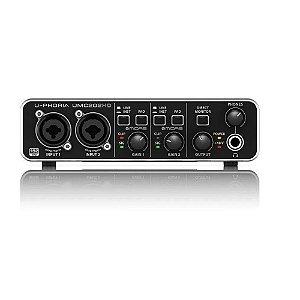 Interface De Áudio Behringer U-phoria Umc202hd Usb Pré Midas