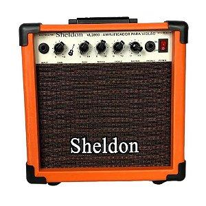 Caixa Amplificador Para Violão Sheldon Vl2800 Laranja 15w