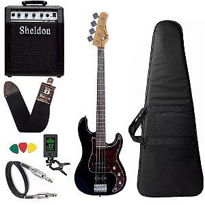 Baixo Tagima Tw65 Woodstock Precision Preto Amplificador Sheldon