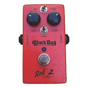 Pedal Distorção Black Bug Trt 2 Red Tube Para Guitarra