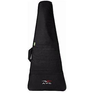 Capa Bag Super Luxo Guitarra Flying V Acolchoado Mochila Avs