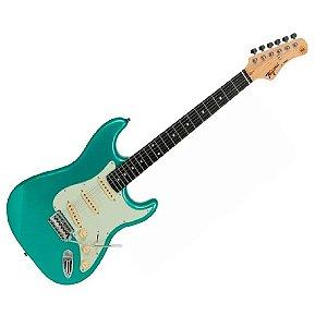 Guitarra Tagima Tg500 Verde Surf Green Claro Strato Metallic