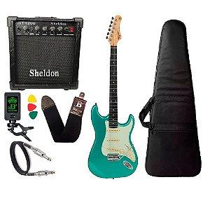 Guitarra Tagima Tg500 Verde Surf Green  amplificador sheldon