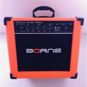 Amplificador Cubo Impact Bass Cb60 Borne 20w Laranja