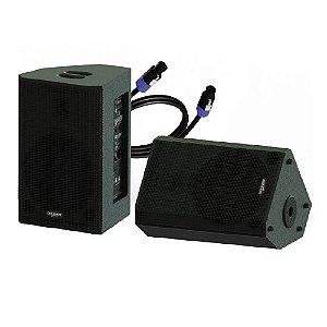 Kit Caixa Ativa Passiva Madeira 12 Pol 380w Bluetooth Donner
