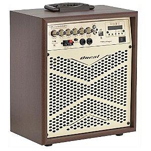 Caixa Multiuso Oneal Ocm 4006b Vintage Bluetooth Usb Bateria