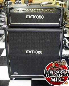 kit completo Cabeçote meteoro Jaguar Stereo Chorus 200 W + 1 Caixa 4x12 300watts