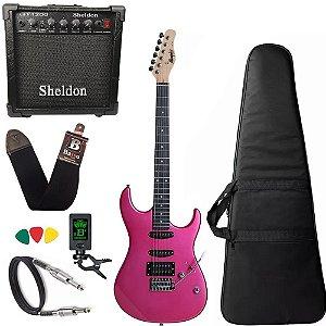 Kit Guitarra Tagima Memphis Mg260 Pink Caixa Amplificador