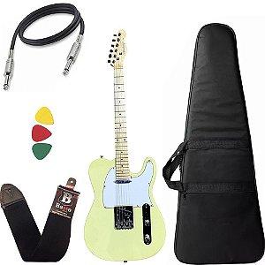 Guitarra Telecaster Strinberg Tc120s Creme Com Capa Bag Alça