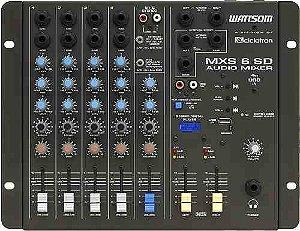 Mesa De Som stereo 6 Canais Wattsom Ciclotron Mxs 6 Sd com usb + controle