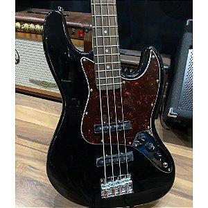 Contra Baixo Jazz Bass Sx Bd1 Preto 4 Cordas Passivo Custom