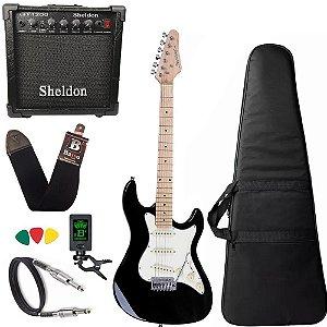 Guitarra Strinberg Sts100 Bk Preto Caixa Amplificador 15w