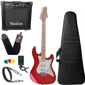 Guitarra Strinberg Sts100 Mwr Vermelha Caixa Amplificador