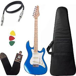 Guitarra Strinberg Sts100 Mbl Azul Stratocaster Capa Bag
