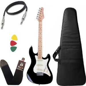Guitarra Strinberg Sts100 Bk Preto Stratocaster Capa Bag